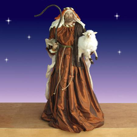 Life Size Shepherd with Lamb