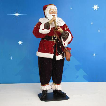 Life Size Santa with Horn