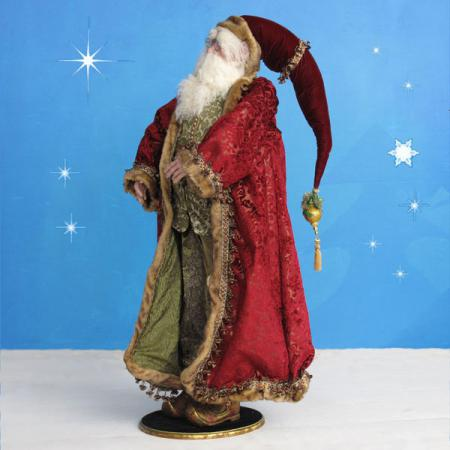 Vintage Santa in resin and fabric - 4 ft. scale