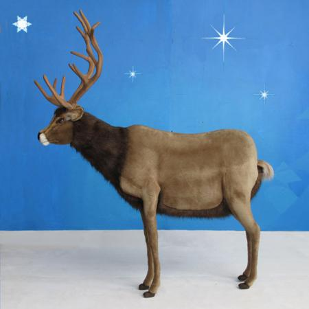 "Realistic Hansa Reindeer 44""H Ride-on"