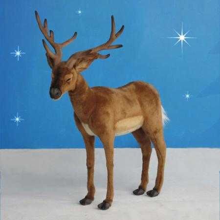 "Realistic Plush White Tail Reindeer 38.5""H"