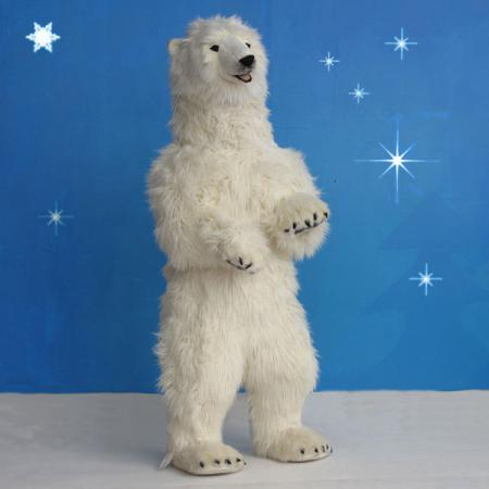 "Christmas Polar Bear Life Size 60""H"
