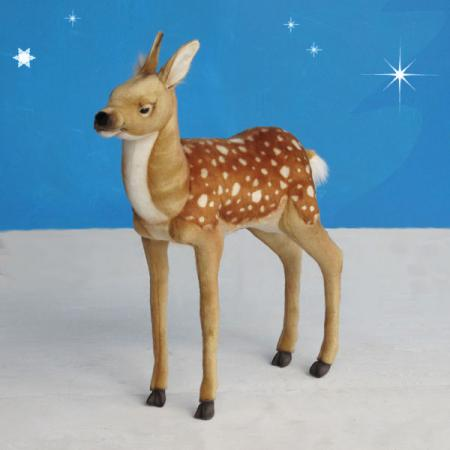 hansa realistic plush standing bambi deer 32. Black Bedroom Furniture Sets. Home Design Ideas