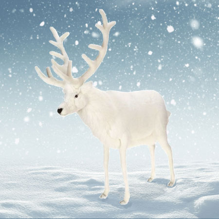 Plush White Reindeer