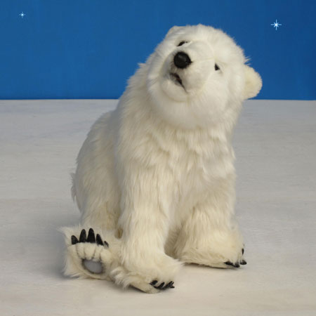 "Sitting Polar Bear Cub 13""H"