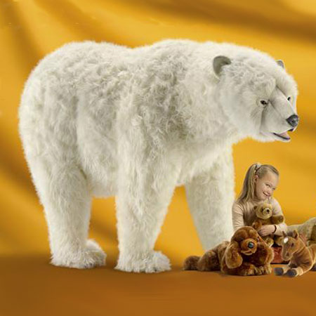 Hansa Toy Life Size Polar Bear