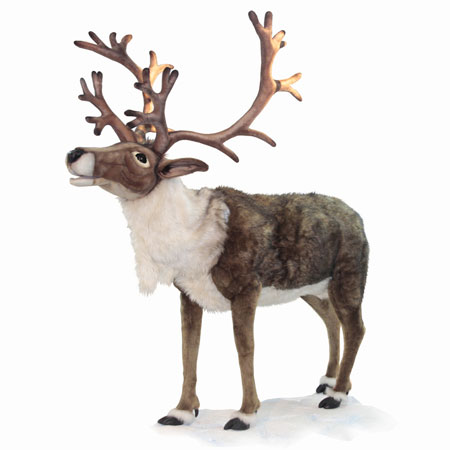Life Size Nordic Singing Reindeer 65 Inch