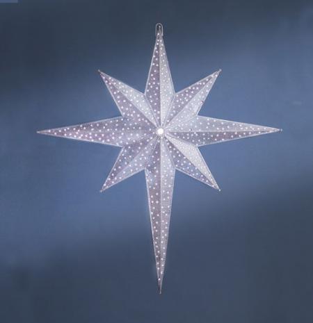 White Bethlehem Star 72 inches with 1000 LED Lights