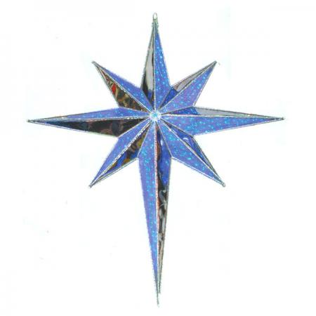 Huge Blue Bethlehem Star
