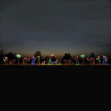 Holiday Nativity C7 LED Light Display 17 Pc 86 ft. W