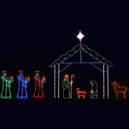 Large LED Nativity 8 piece
