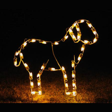 "Nativity C7 LED Light Display - 41""W Standing Lamb"