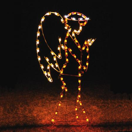 "Nativity C7 LED Light Display - 81"" Guardian Angel"