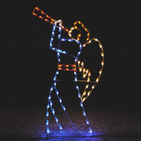 "Nativity C7 LED Light Display - 98"" Heralding Angel"