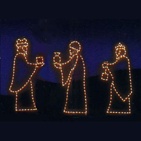 Nativity Lights - Small Three Kings 44""