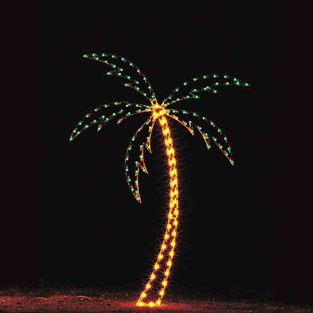Palm Tree Light Display