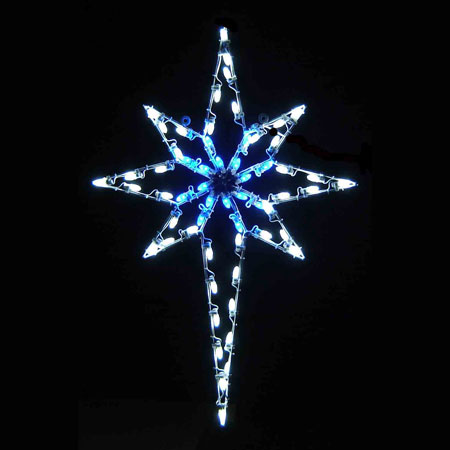 Led Star Of Bethlehem 4 8 Blue Amp White
