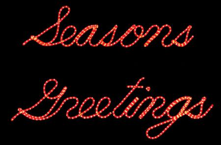Seasons Greetings Lighted Script Sign 11.8 ft W