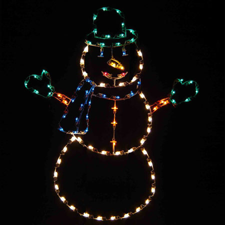 Jolly Snowman Display Lights