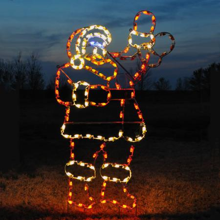 "Animated Santa - 90"" Christmas C7 LED Light Display"