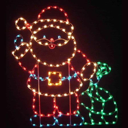 Holiday Dreams 6 Ft Santa W Toy Sack Led Light Display