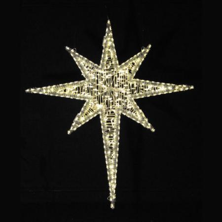 Giant LED Star of Bethlehem 6 ft  - Warm white