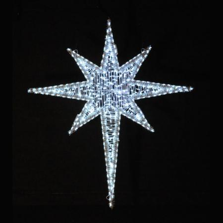 Giant LED Star of Bethlehem 6 ft  - Cool White