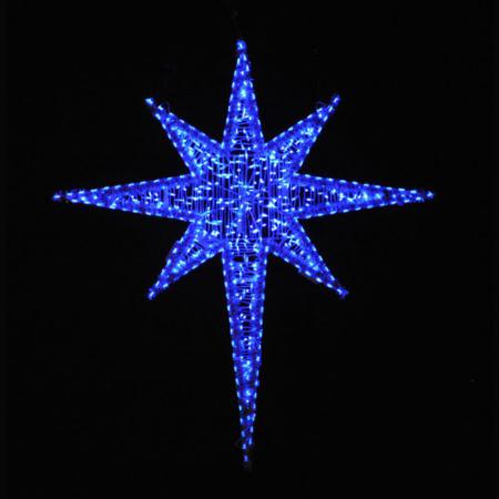 Giant LED Star of Bethlehem 6 ft  - Blue