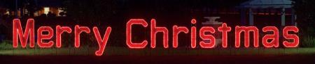 Merry Christmas sign Commercial LED Ropelight Display 39.8 ft W