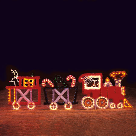 Garland Train Set 3 Car Led Light Display 22 Ft W