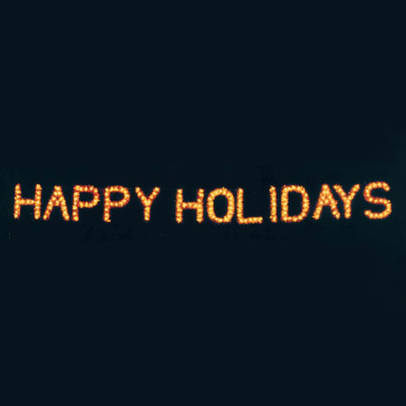 Happy Holidays C7 LED Display