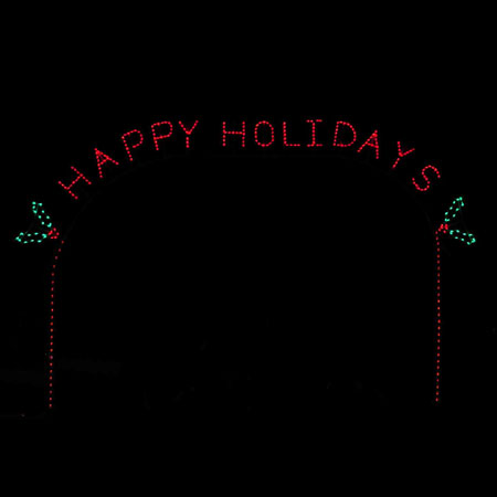 Happy Holidays Arch C7 LED Display