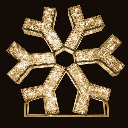3D Snowflake LED Lights