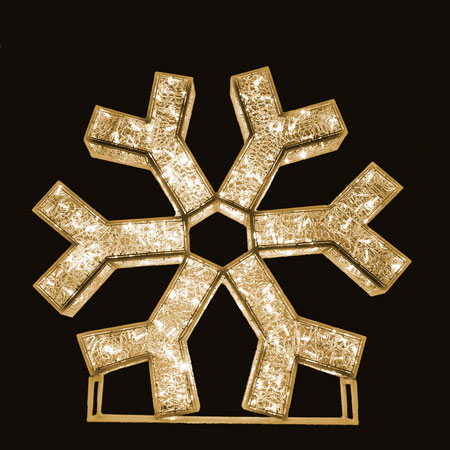 3D Medium Snowflake LED Lights