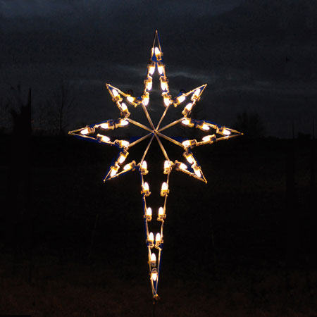 Led star of bethlehem cool white for 57in led lighted peacock outdoor christmas decoration