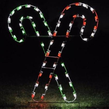 Holiday Lights Candy Canes