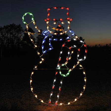 Holiday Lights Animated Snowman