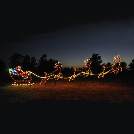 Santa Sleigh Lights