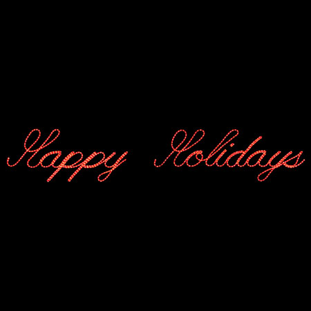 Happy Holidays Rope Light Sign