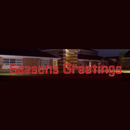 Seasons Greetings Light Display