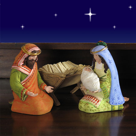 "Patience Brewster Nativity Set Holy Family - 4 Pc 10"" scale (5.5""H)"