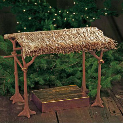 "Patience Brewster Nativity Shelter - 2 Pc 10"" scale (17""H)"
