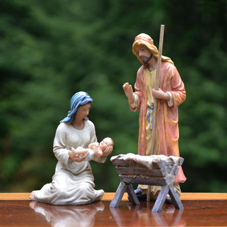 Indoor Holy Family 10 inch