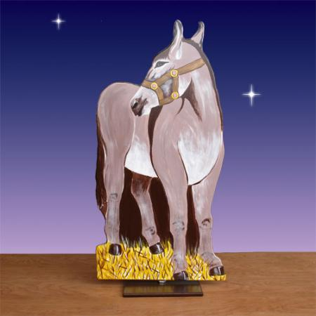 "Life Size Nativity Donkey 2D Display 48""H"