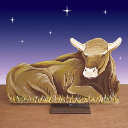 "Life Size Ox 2D Display 24""H"