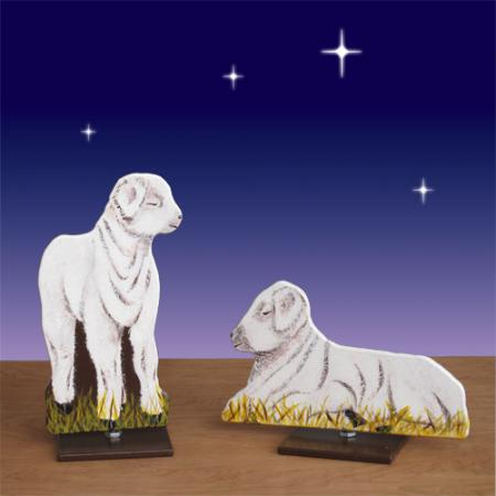 "Life Size Nativity Lamb set 2D Display 24""H"