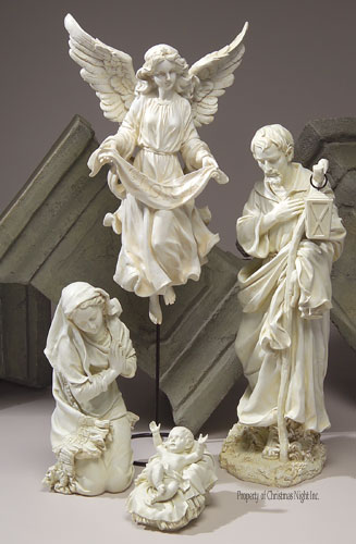 Garden Holy Family and Angel by Josephs Studio