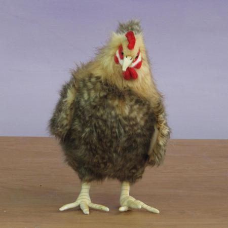 Front View of Plush Brown Hen