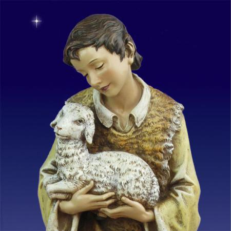 Christmas 40 inch scale Shepherd with lamb