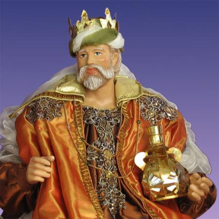 Life Size King Melchior In Resin And Fabric 5 Ft Scale